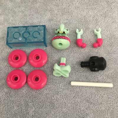 لطيف أنيمي الكرتون سبونجبوب هدايا عيد الميلاد بناء لعبة المكعبات للأطفال متوافق مع أصدقاء الطفل هدية
