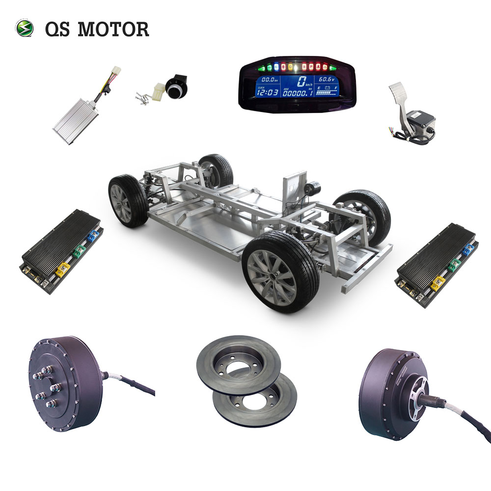 <font><b>QS</b></font> <font><b>Motor</b></font> <font><b>273</b></font> 8000W 2wd 96V 115kph 72V 95kph 48V 67kph BLDC brushless electric car hub <font><b>motor</b></font> conversion kits with APT96600 <font><b>motor</b></font> image