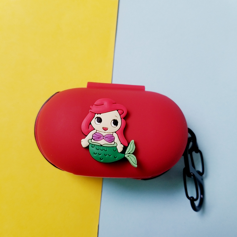 Cute Princess Style Silicone Case Cover Earphone Pouch Dust-proof Protective For Samsung Galaxy Buds Ultra Thin Protector Case