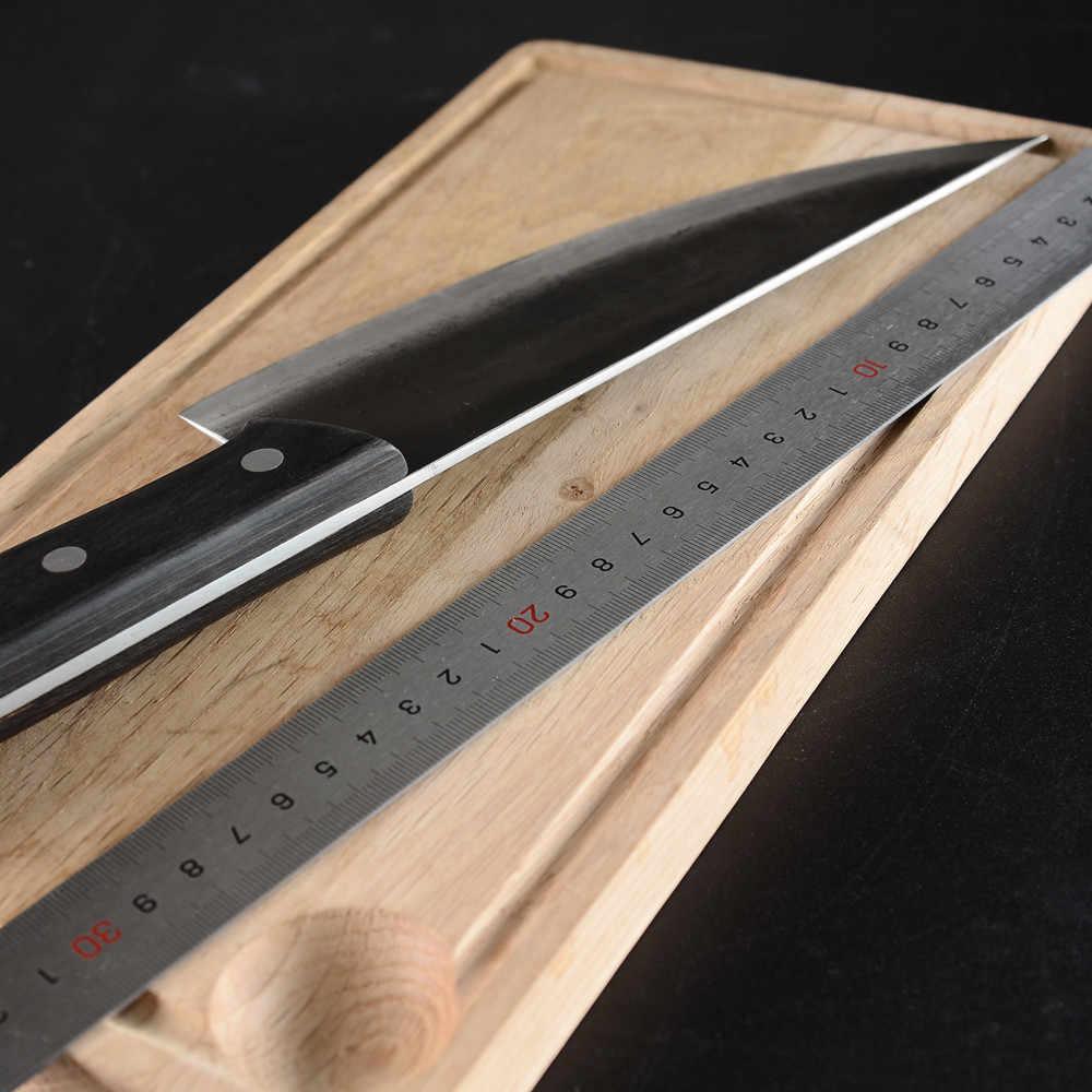 SOWOLL couteau de cuisine de boucherie forgé à la main, outils Chef viande, couteau de boucherie serbe, couteau de boucher, couteau de légumes, outil de Camping