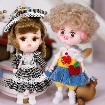 Dream Fairy 1/12 BJD DODO Doll Vintage and Perky style 14cm mini doll 26 joint body Cute children gift toy ob11 1