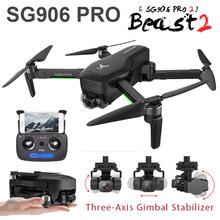 Drone SG906 PRO PRO2 bestia 2 GPS 3-Axis Gimbal 4K FPV 5G WIFI podwójny aparat profesjonalnego 50X Zoom bezszczotkowy Quadcopter Dron #8217 s postawy polityczne w F11 tanie tanio SMRC Żywica Z włókna węglowego Z tworzywa sztucznego Drewna Metal CN (pochodzenie) Ready-to-go 28MINS HELICOPTER Pilot zdalnego sterowania