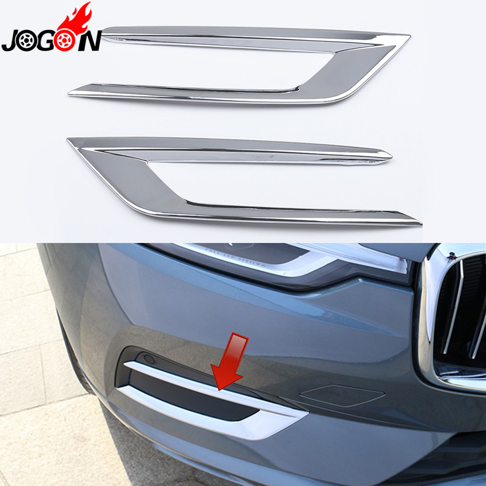 For VOLVO XC60 2018 2019 Chrome Front Grilles Bottom Bumper Protector Cover Trim