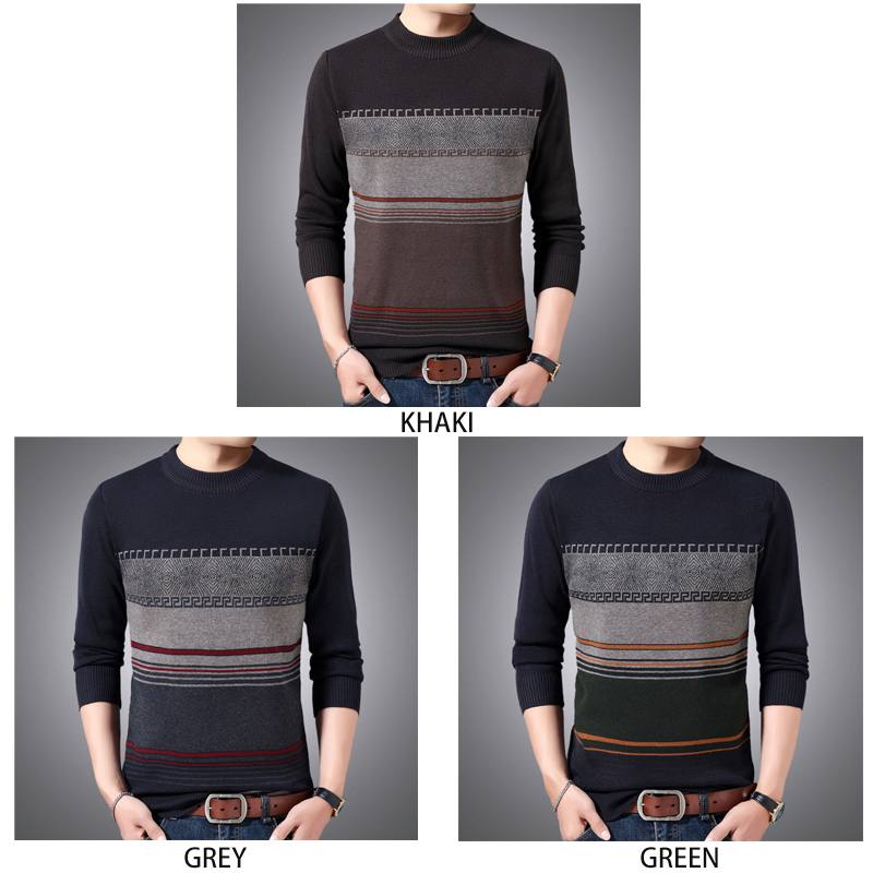 2020 New Sweater Men Fashion Brand Pullover Striped Slim Fit men winter sweater Casual men's clothing birthday gift for husband