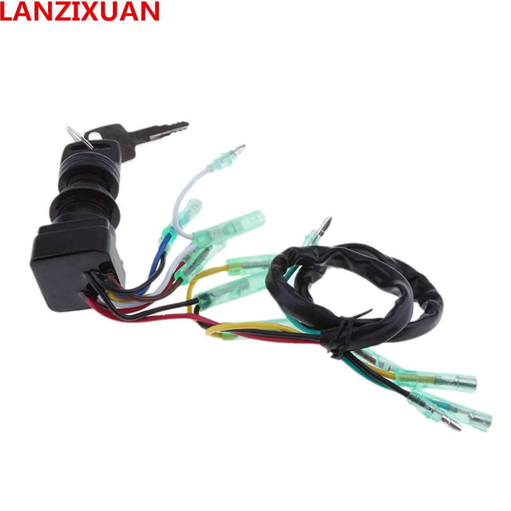 Remote Control Box Ignition Switch / Main Switch Assy 703-82510-43-00 For Yamaha Outboard Motors 703-82510-42-00 Push To Choke