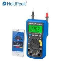 Holdpeak HP-90EPD 디지털 멀티 미터 휴대 전화 app 자동 범위 ac dc 전압 4000 카운트 저항 주파수 자동 멀티 미터