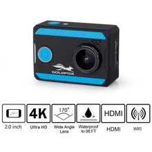 4K Action Camera WiFi 2.0 Screen Sports 12MP 170 Wide Angel Go Waterproof Pro DV Car Bike Helmet DVR