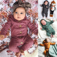 Baby Rompers Knitted Long Sleeve Knit Newborn Bebes Boys Girls Jumpsuits Autumn Winter Toddler Children Overalls Clothing(China)