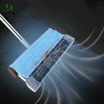 UNTIOR Electric Floor Sweeper Cleaner Vacuum Rechargeable Wireless Hand Push Vacuum Cleaner Household Electric Mop Broom Robot
