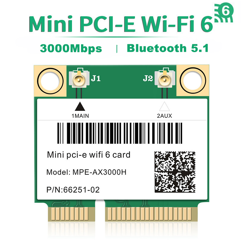 Wi-Fi 6 Dual Band 3000 Мбит/с Bluetooth 5,1 MPE-AX3000H для AX200 Беспроводной Половина Mini PCI-E Wi-Fi кард-802.11ax/ac 2,4 ГГц Wi-Fi 5 ГГц адаптер