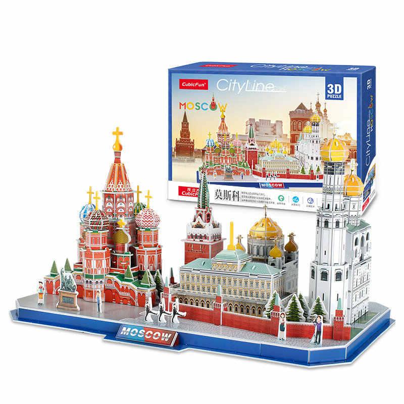 Classico Puzzle Russia Messico Rosso Sbaski Orologio Torre della Cattedrale di San Basilio Di Puzzle del Mattone scala Modelli di Stile Set di Costruzione Del Mondo