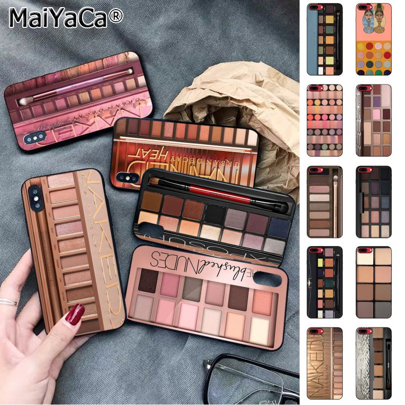 MaiYaCa Naked Palette Fashion Glam <font><b>Makeup</b></font> Eye shadow box Newly Phone <font><b>Case</b></font> for Apple <font><b>iphone</b></font> 11 pro 8 7 66S Plus X XS MAX 5S SE XR image