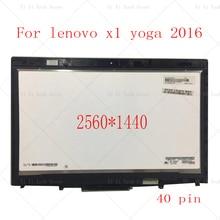 """14 """"20FQ WQHD LCD LED תצוגת מסך מגע Digitizer עצרת עבור Lenovo X1 יוגה 1st Gen 2560*1440 2016 שנה"""