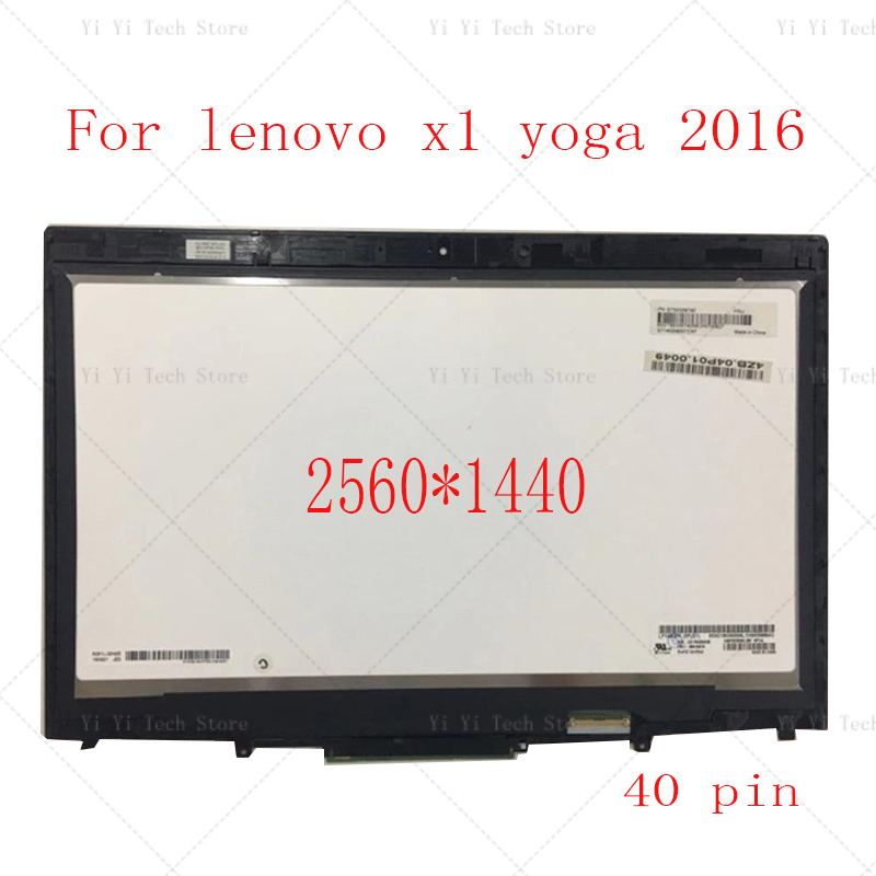 14 20FQ WQHD LCD LED Display Touch Screen Digitizer Assembly For Lenovo X1 Yoga 1st Gen 2560*1440 2016 year image
