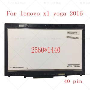 """Image 1 - 14"""" 20FQ WQHD LCD LED Display Touch Screen Digitizer Assembly For Lenovo X1 Yoga 1st Gen 2560*1440 2016 year"""