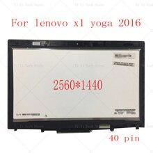 """14 """"20FQ WQHD wyświetlacz lcd led montaż digitizera ekranu dotykowego dla Lenovo X1 joga 1st Gen 2560*1440 2016 rok"""