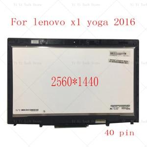 Image 1 - ЖК дисплей 20FQ WQHD диагональю 14 дюймов с сенсорным экраном и дигитайзером в сборе для Lenovo X1 Yoga 1 го поколения 2560*1440 2016 года