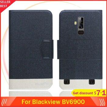 Перейти на Алиэкспресс и купить 5 цветов! Чехол Blackview BV6900 5,84 дюймультратонкий кожаный эксклюзивный чехол для телефона Модный чехол-книжка для карт