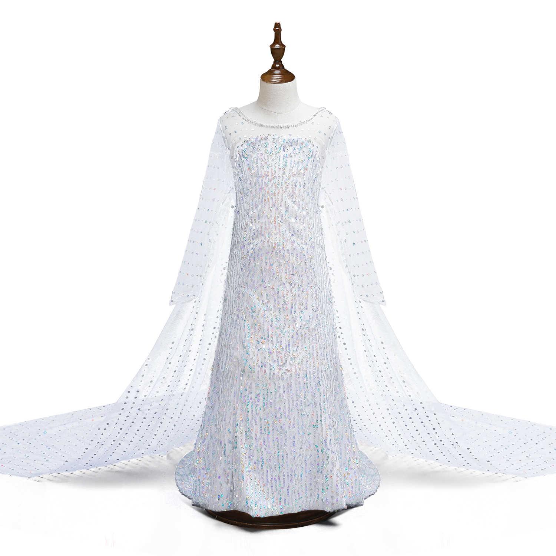 Fantezi kız prenses elbiseler uyku güzellik Belle güzellik ve Beast Cosplay kostüm Elsa Anna elbise çocuk parti giysileri