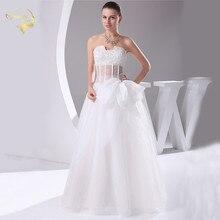 Jeanne Love New Arrival Wedding Dresses 2017 Tulle Sexy Transparent Waist Robe De Mariage Beading Vestido Novia JLOV75911