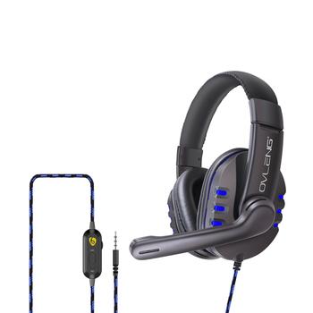 VLENG P3 Over-Ear przewodowy 3 5mm gamingowy zestaw słuchawkowy E-słuchawka sportowa z mikrofonem składany z pałąkiem na głowę na komputer stacjonarny do laptopa tanie i dobre opinie docooler Technologia hybrydowa Bezprzewodowa+przewodowa słuchawki 108dB bluetooth Do gier wideo Liniowa 32Ω