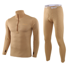 Winter Mens Thermal Underwear Suit Fleece Warm Breathable Sp