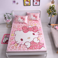 3pcs/set Kitty Cat Bed Sheet Set 150x200cm Fitted Crib Sheet Kids Toddler Bed Mat Baby Crib Bedding Set Baby Mattress Bed Sheets