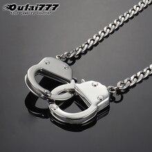 Oulai777 мужское золотое ожерелье из нержавеющей стали подвески в форме наручников ожерелья цепи мужские аксессуары леди золото Личность хип-хоп
