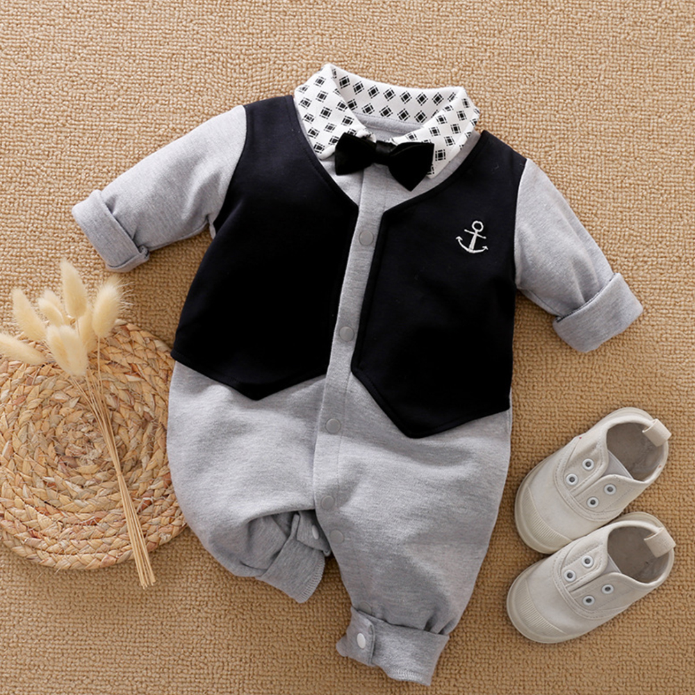 Malapina Baby Boy Romper Kids Summer Spring 0-24M Age Infant Gentleman Toddler Newborn Outfits Baby Girls Clothes 2020 5