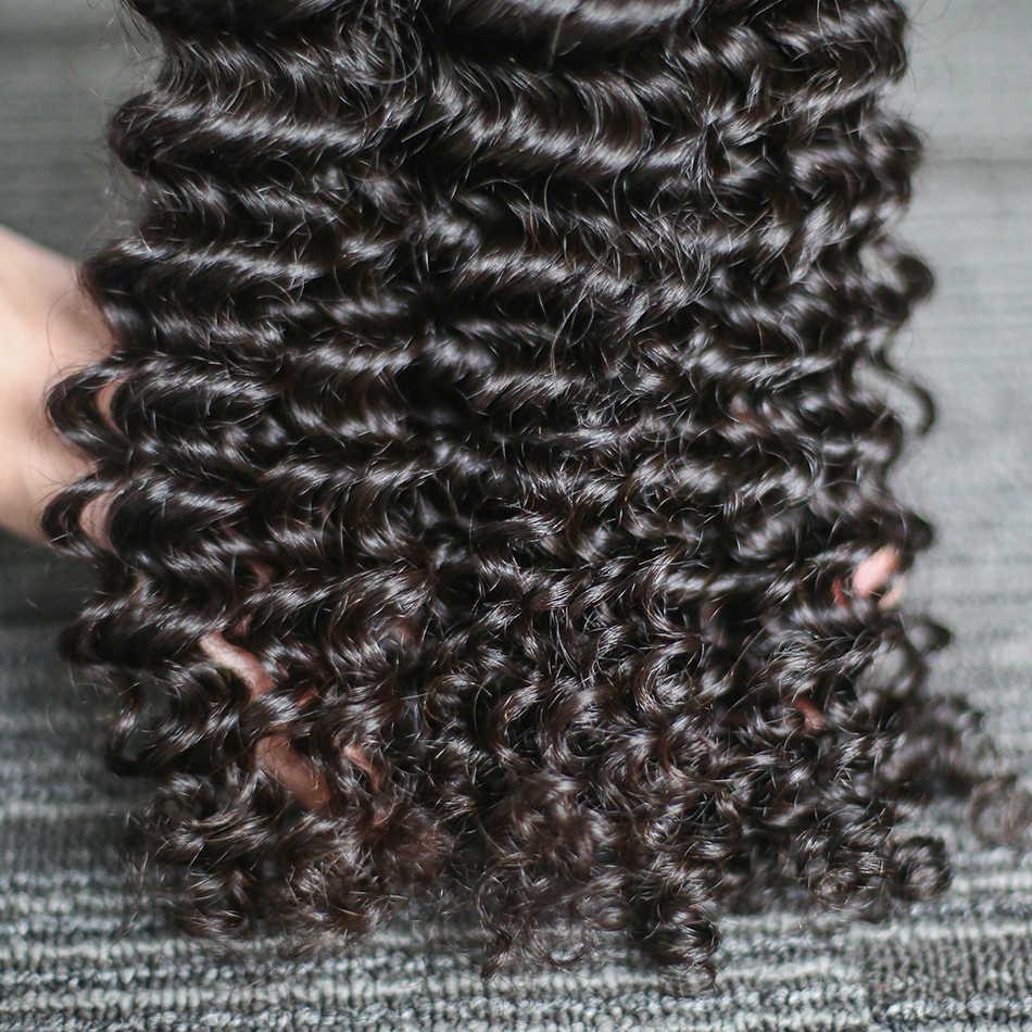 Rosabeauty 3 Bundles 10A Brasilianisches Lockiges Haar Spinnt Unverarbeitete Menschliches Haar 26 28 Zoll Bundles Natürliche Farbe Reines Haar Tiefe