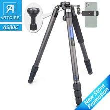 Carbon Fiber Stativ AS80C Heavy Duty Kamera Stativ Ultra Stabile & Leichte Professional Kamera Travel Stativ Schüssel Adapter