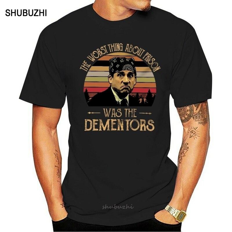 A pior coisa sobre a prisão foi os dementors vintage retro camiseta prisão mike o programa de tv do escritório
