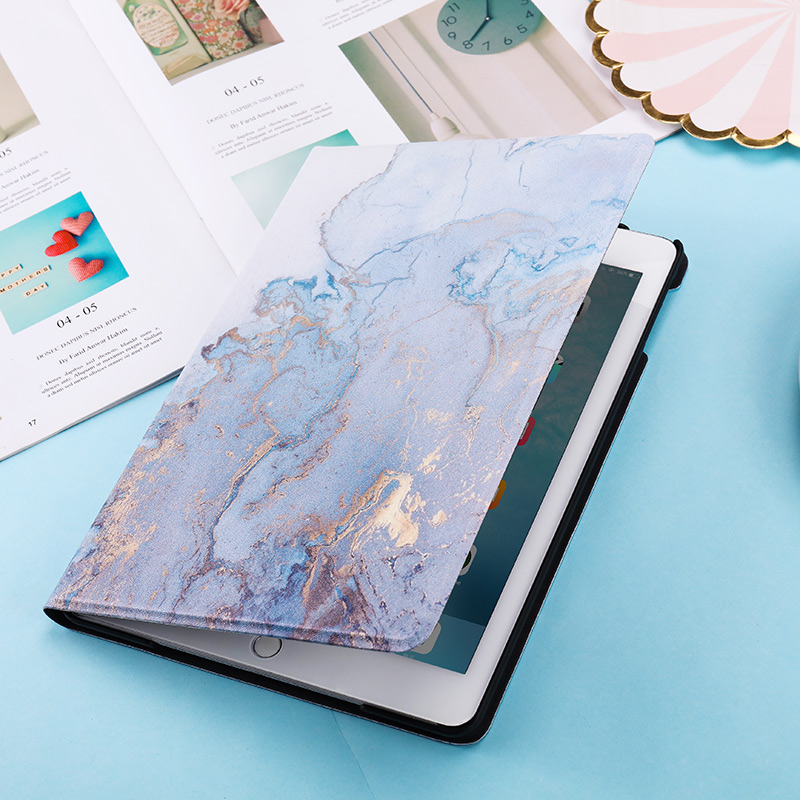 iPad 10.2inch for Magnetic 2020 Back PC Marble PU Smart Texture Cover 2019 Case Leather