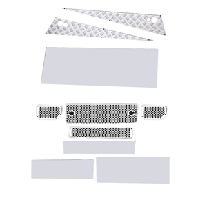 Decoration Stainless Steel Car Hood Sticker Anti-Skid Plate Board with Mesh Grille Intake Grille Cover