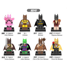 X0147 Super Heroes Pajamas Fairy Catwoman Tartan Joker Dress Action Batman Figures Bricks Building Blocks Children Toys