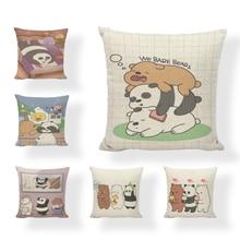 Christmas sofa pillow cushion set color panda cushion set printing linen love sofa car seat home decoration pillowcase snowy christmas night print linen sofa pillowcase