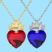 Descendentes filme evie coração vermelho colar evie fairest coração coroa colar rainha dos corações traje fã jóias