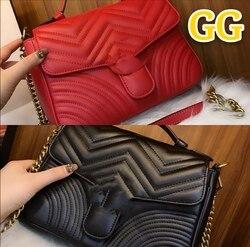 2020GG nueva marca bolso de cuero para mujer bolso de mensajero de moda y duradero
