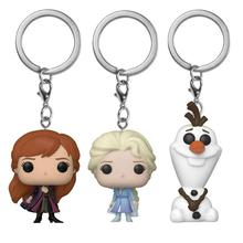 Original box 2020 NEW hot Frozen 2 Princes Elsa Anna Olaf Cartoon Doll keychain Children toy Birthday gift Collection Toys