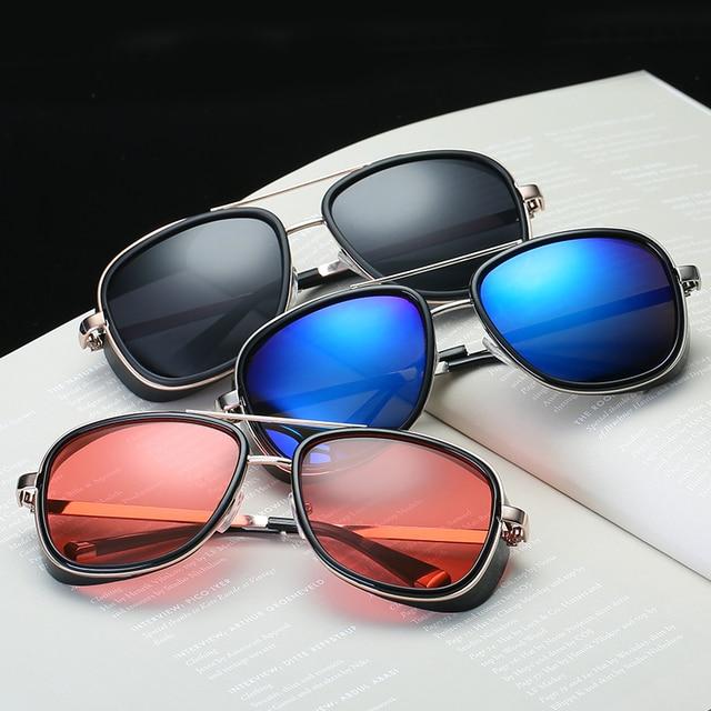 Iron Man-Gafas de sol de diseño Vintage para hombre, lentes de sol unisex con revestimiento de Rossi, estilo retro, con protección UV400, Modelo 3 Matsuda TONY stark 2