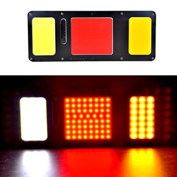 1Pair 24V COB LED Truck Tail Stop Lamp Waterproof HeavyTruck Turning Lights Stoplight Night Signal Lighting Lorry
