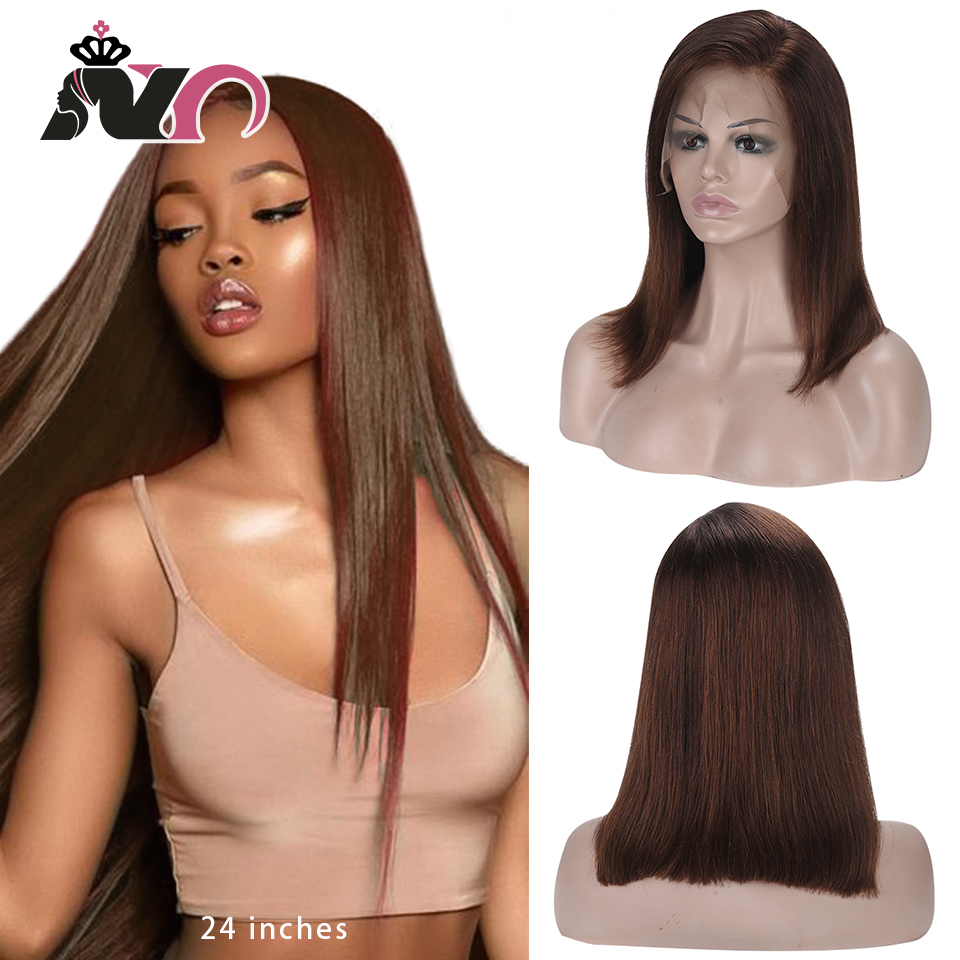 NY Hair Blonde Straight Hair Wigs Lace Front Human Hair Wigs 13x4 Lace 4# Brazilian Remy Hair Wigs For Women 130% Pre Plucked