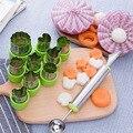 Устройство резки овощей и фруктов для риса 8 шт./компл. форма для резки цветов из мультфильмов инструменты для резки печенья из нержавеющей с...