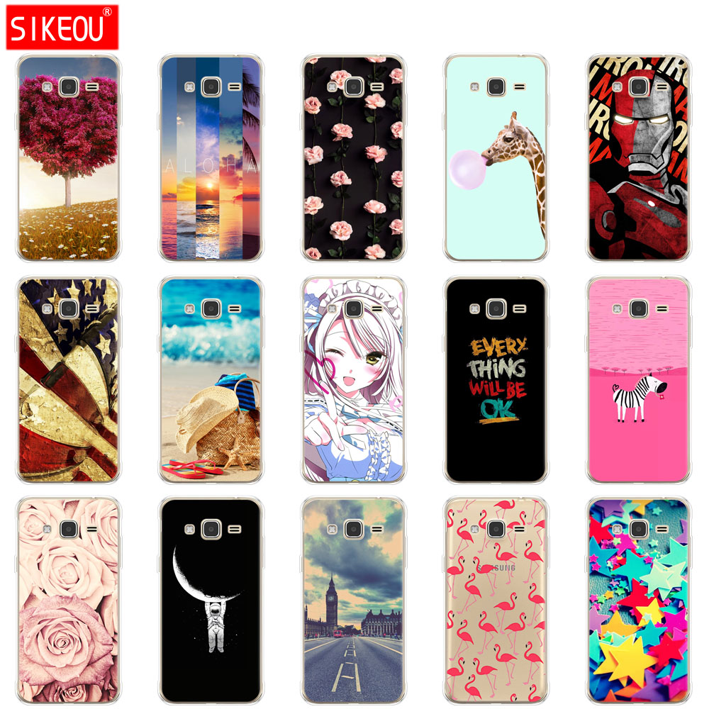 SIKEOU Soft TPU Case for Samsung J3 2015 Case Silicone Cover for Samsung Galaxy J3 2016 J 3 SM J320F 320 j3 J320FN