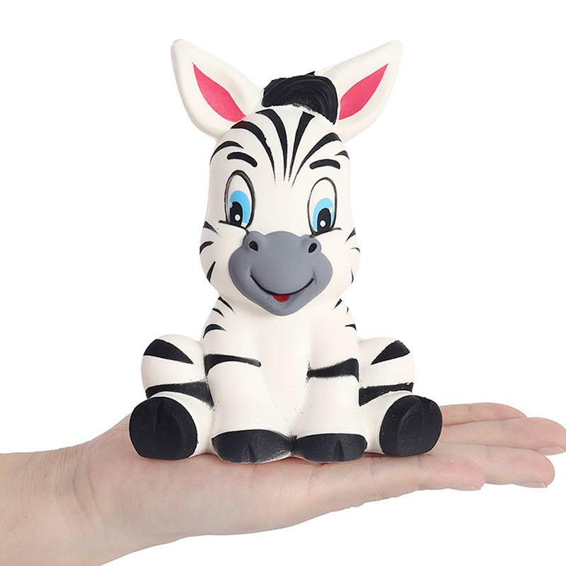 New Jumbo Cute Zebra Squishy Slow Rising Bread Cake Scented Soft Squeeze Toy Stress Relief For Funny Xmas Kids Gift 13*8CM