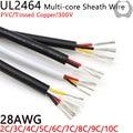 Провод с покрытием UL2464 длиной 10 м, провод 28awg 2, 3, 4, 5, 6, 7, 8, 9, 10 ядер, изолированный провод управления сигналом из мягкой меди