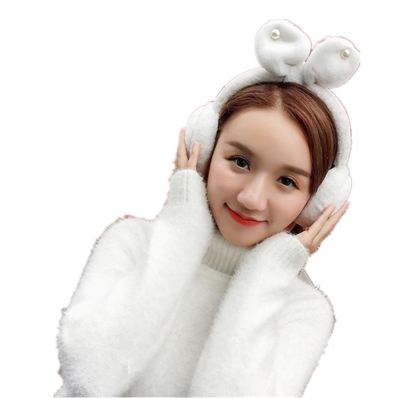 2018 New Lovely Cute Antlers Fur Winter Earmuffs For Women Warm Earmuffs Ear Warmers Gifts For Girls Cover Ears Ear Muff AB348