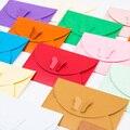 10 шт./лот  цветные конверты из крафт-бумаги с пряжкой-бабочкой  простые декоративные Конверты в ретро-стиле