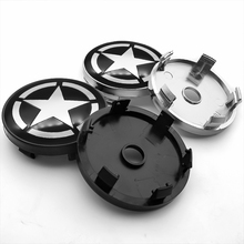 4pcs 56/60mm Pentagram sign Car Wheel Center Hub Cap auto Rim refit Badge Creative Emblem sticker for BMW AUDI VW FORD KIA JEEP hot sale front auto bearing hub assembly kit fit for car audi a2 vw lupo vkba3550 6e0407621d free shipping