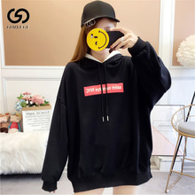 Best selling autumn and winter fashion solid color Harajuku lotus pullover loose womens clothing